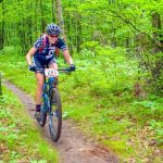 Danielle Musto (283) the Womens Open WInner in the Big M singletrack